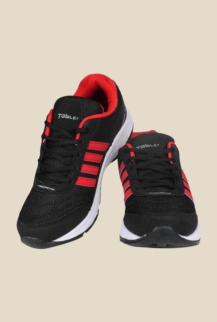 Columbus TB-15 Black & Red Running Shoes