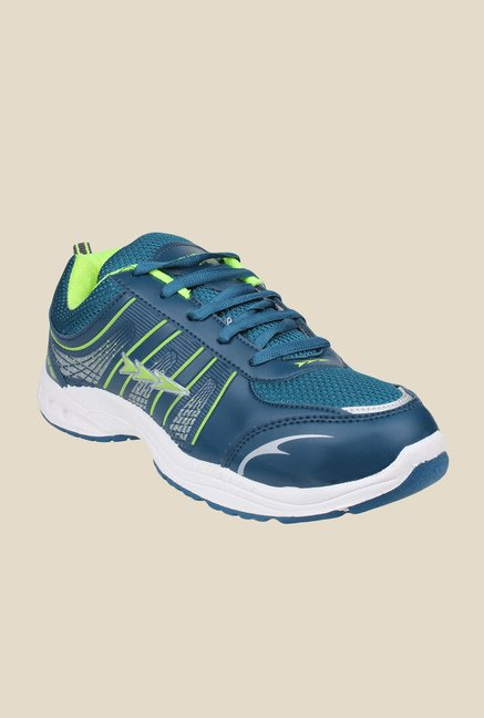 Columbus Tab-5005 Sea Blue & Green Running Shoes