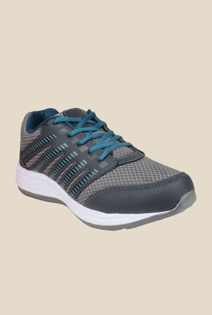 Columbus TB-302 Grey & Sea Blue Running Shoes