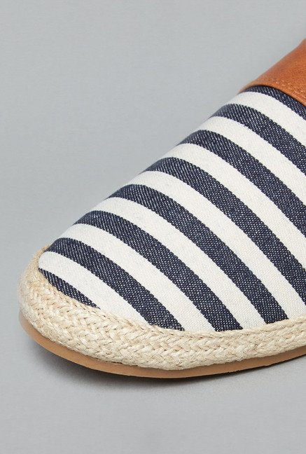 ETA by Westside Navy & White Espadrille Shoes