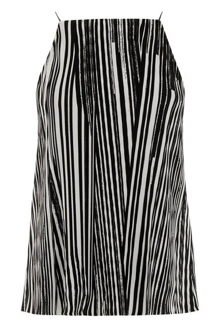 Warehouse Black Striped Top