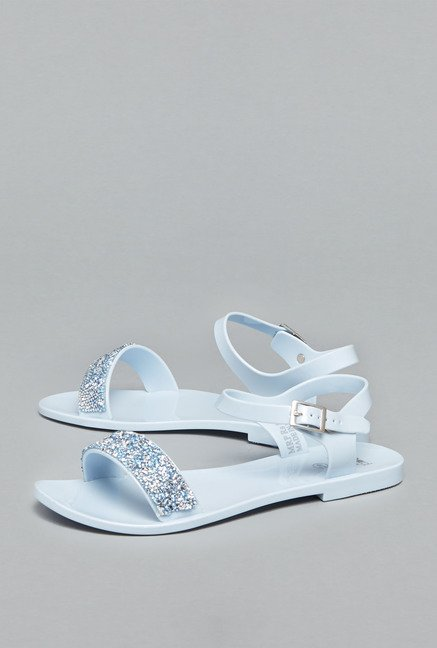Head Over Heels by Westside Blue Ankle Strap Sandals