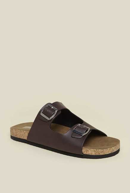 Zudio Brown Slide Sandals