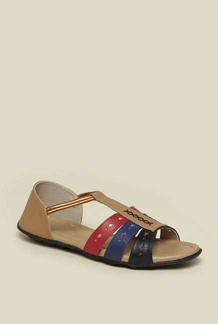 Zudio Beige Ankle Strap Sandals