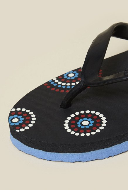 Zudio Black Thong Flip Flops
