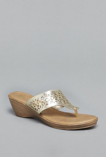 Head Over Heels by Westside Gold Wedge Sandals