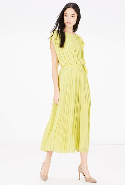 Warehouse Lime Solid Dress