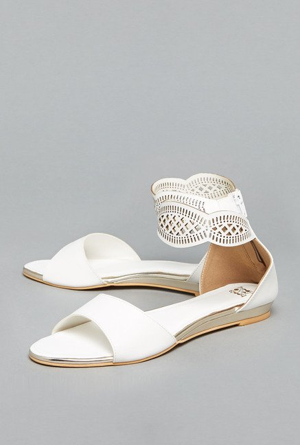 Head Over Heels by Westside White Flat Sandals