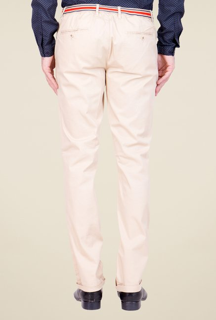 United Colors of Benetton Beige Solid Trouser