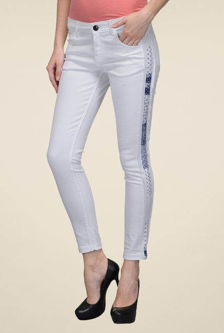 United Colors of Benetton White Jeans