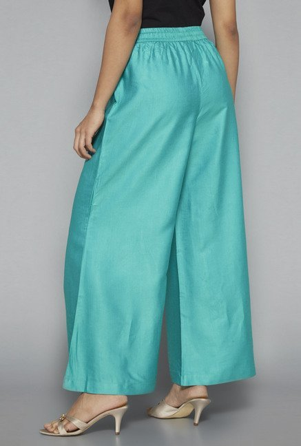 Zuba by Westside Teal Solid Palazzo