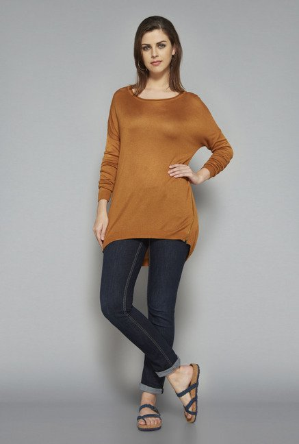 LOV by Westside Brown Claire Top
