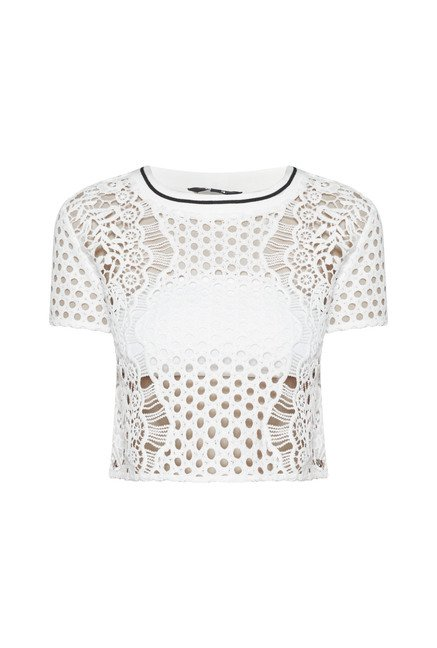Nuon by Westside White Serena Crop Top
