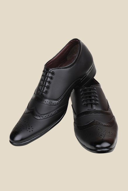 Pede milan Black Brogue Shoes