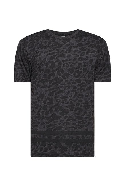 Nuon by Westside Charcoal Slim Fit T Shirt