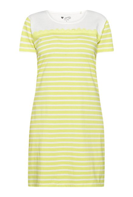 Intima by Westside Lime & White Striped Nightdress