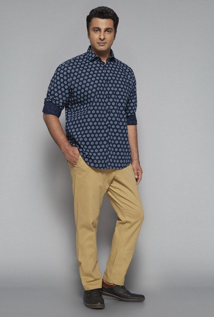 Oak & Keel by Westside Navy Printed Shirt