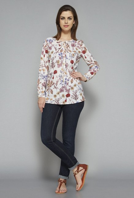 LOV by Westside White Cleo Blouse