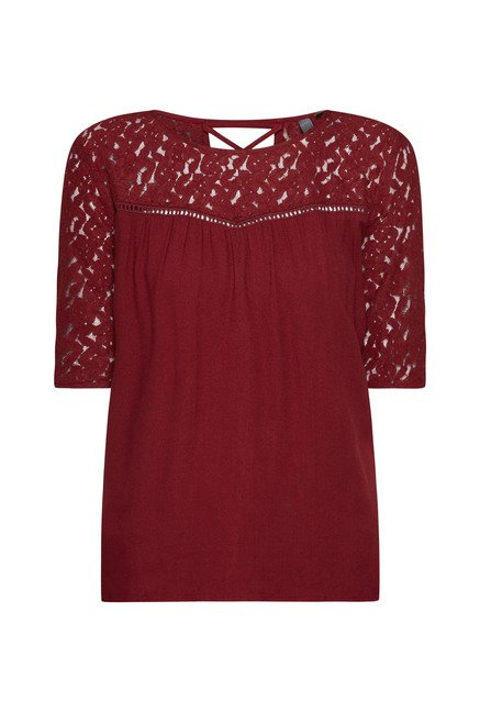 LOV by Westside Maroon Alexis Blouse