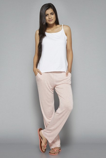 Intima by Westside Pink Textured Pyjama