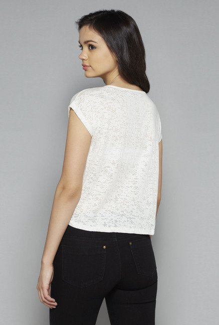 Nuon by Westside White Nora Crop Top