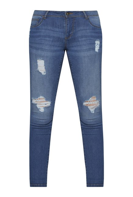 Nuon by Westside Blue Slim Fit Stretch Jeans