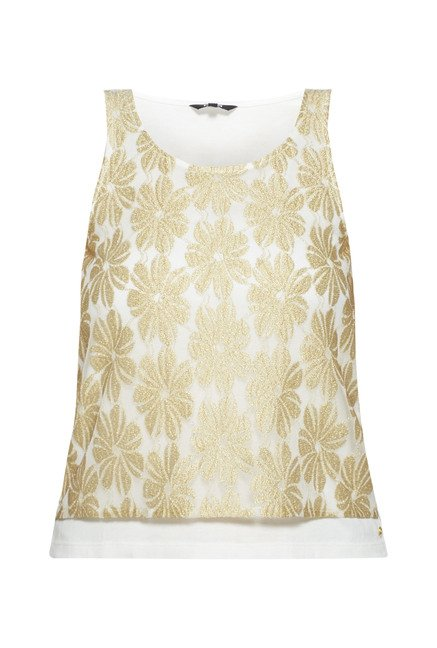 Nuon by Westside White Embroidered Halena Top