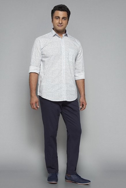 Oak & Keel by Westside White Printed Shirt