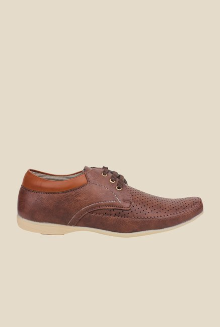Pede milan Brown Derby Shoes