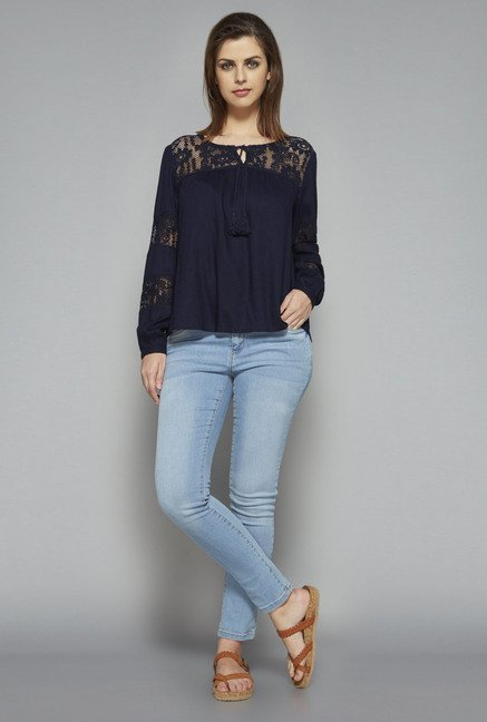 LOV by Westside Navy Kira Blouse