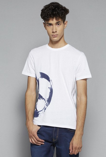 Nuon by Westside White Slim Fit T Shirt