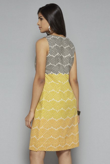Bombay Paisley by Westside Yellow Printed Dress