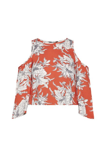Nuon by Westside Orange Denma Top