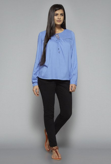LOV by Westside Blue Marie Blouse