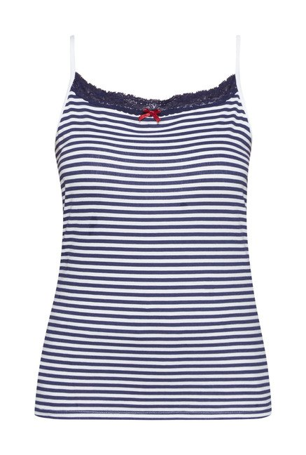 Wunderlove by Westside Navy & White Striped Camisole