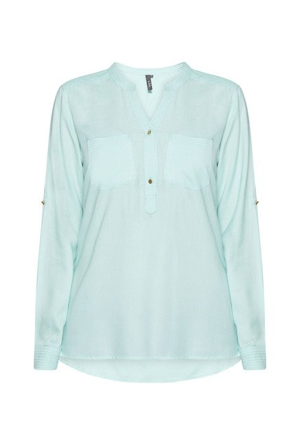 LOV by Westside Blue Phoebe Blouse