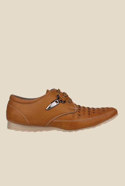 Pede milan Tan Derby Shoes