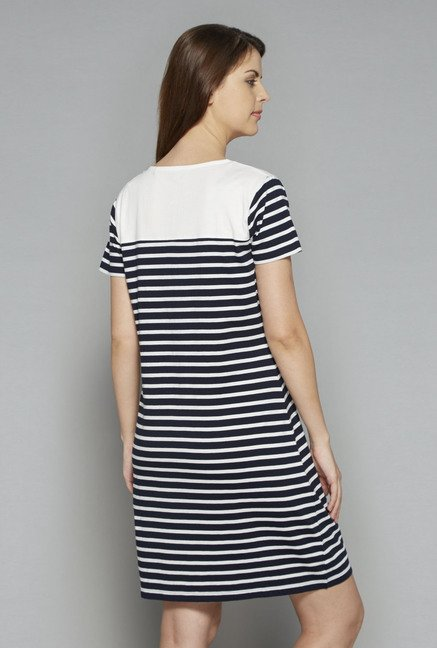 Intima by Westside Navy & White Striped Nightdress