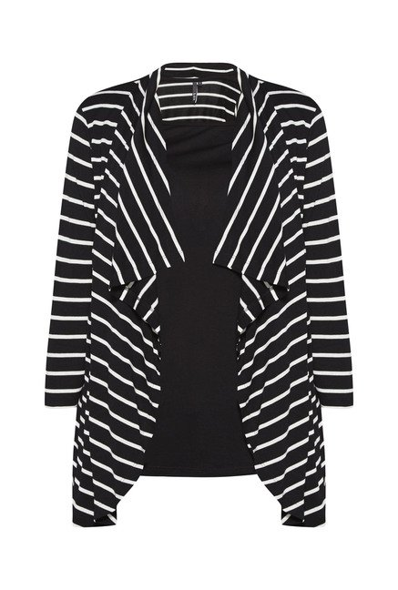 LOV by Westside Black Striped Top