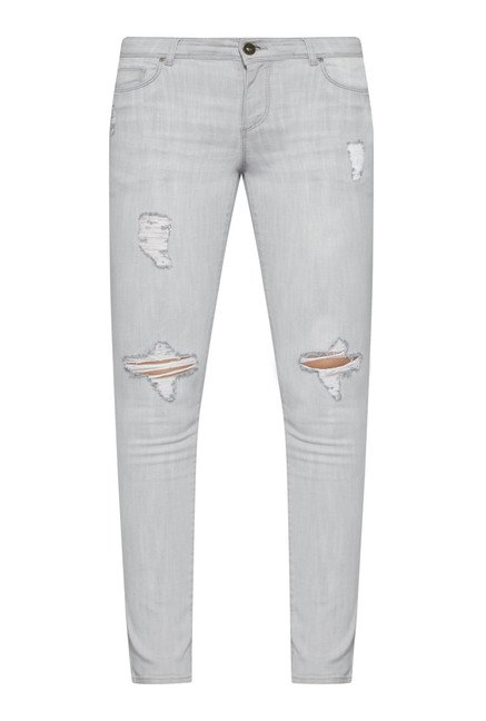 Nuon by Westside Grey Slim Fit Stretch Jeans