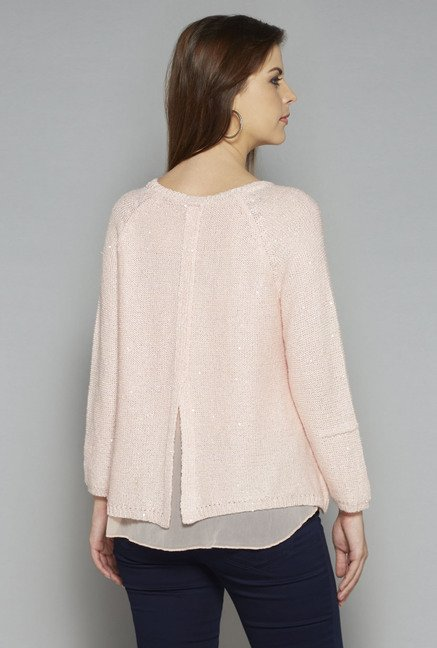 LOV by Westside Peach Sherry Cardigan