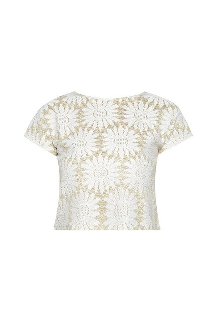 Nuon by Westside White Embroidered Crop Top