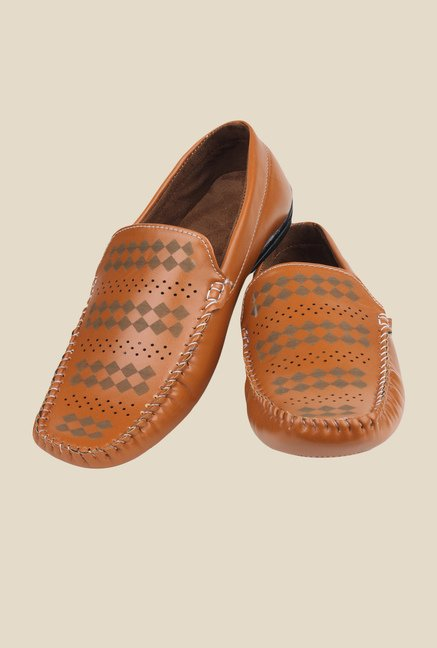 Pede milan Tan Casual Loafers