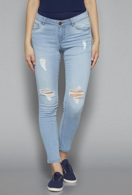 Nuon by Westside Light Blue Slim Fit Odell Jeans