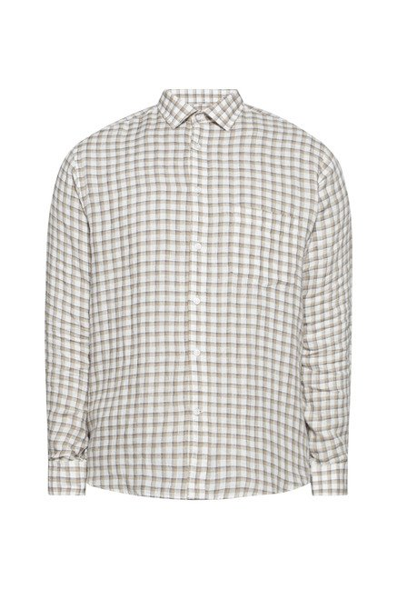 Oak & Keel by Westside Beige Checks Shirt