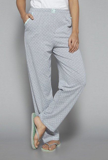 Intima by Westside Grey Polka Dot Pyjama