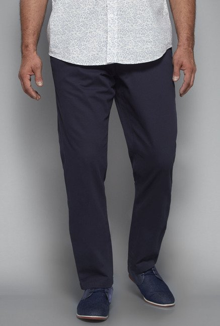 Oak & Keel by Westside Navy Solid Chinos