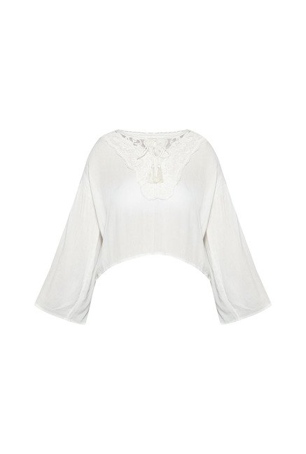 Nuon by Westside White Zac Blouse