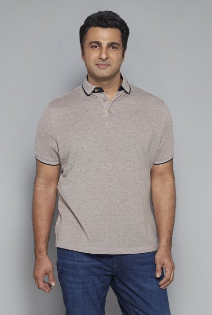 Oak & Keel by Westside Tan Polo T Shirt