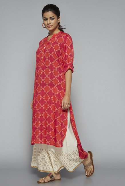 Utsa by Westside Pink Printed Kurta